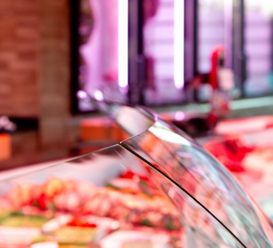 Boucherie -Arbert- vitrine-réfrigérée- Cruz - agencement