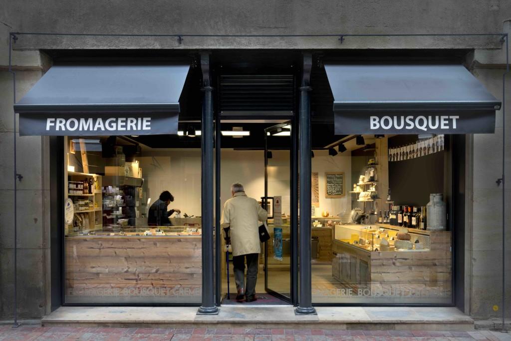 Fromagerie Bousquet devanture - agencement fromagerie - agencement fromager - agencement crémerie