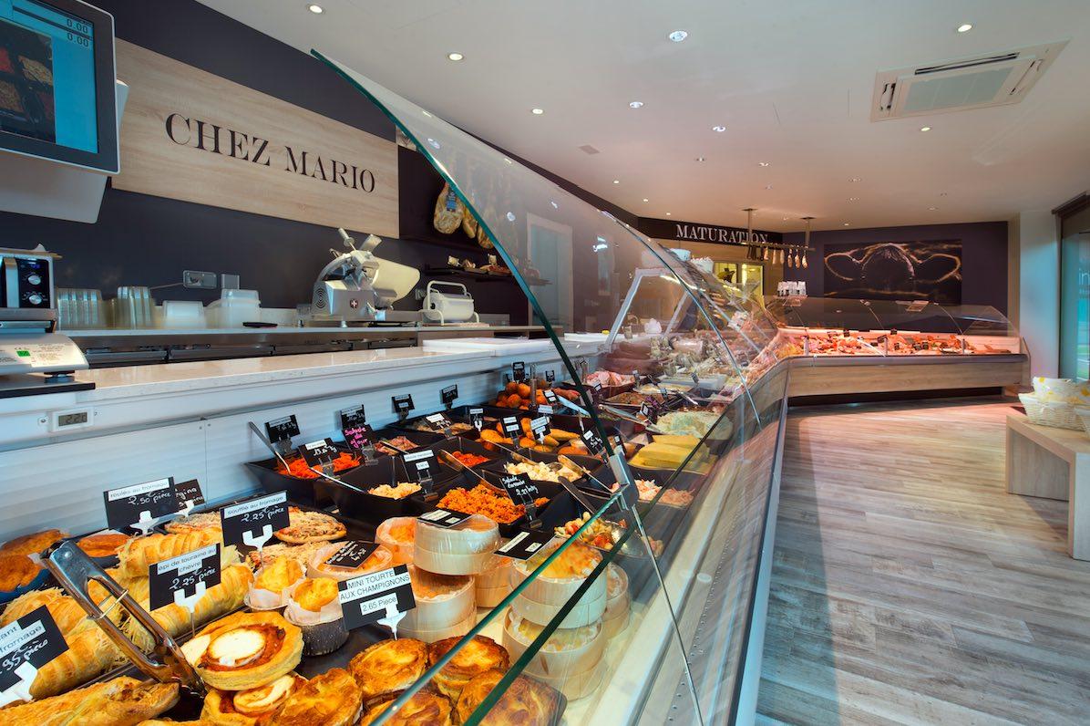 Chez Mario vitrines frigorifiques Cruz - agencement boucherie - agencement charcuterie - chambre maturation boucherie