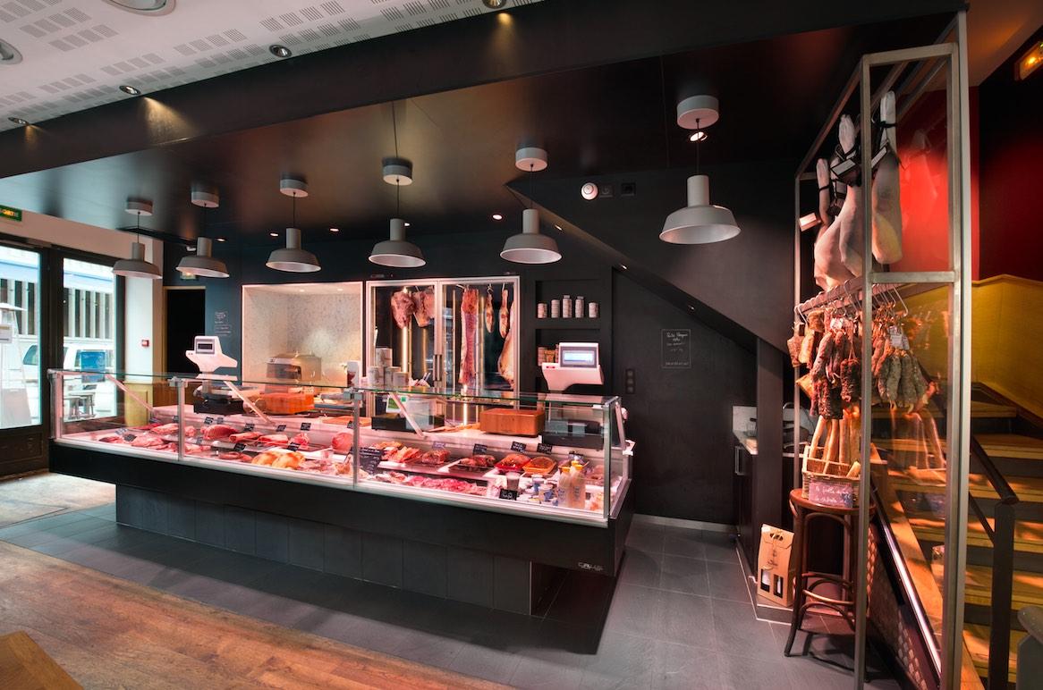 J'Go Toulouse par nakide - agencement boucherie - agencement charcuterie
