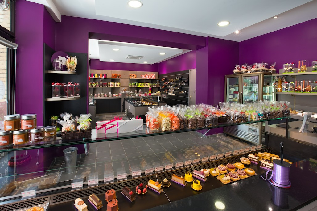 Maison Pillon Blagnac comptoir - agencement chocolatier - décoration chocolaterie - agencement confiseur