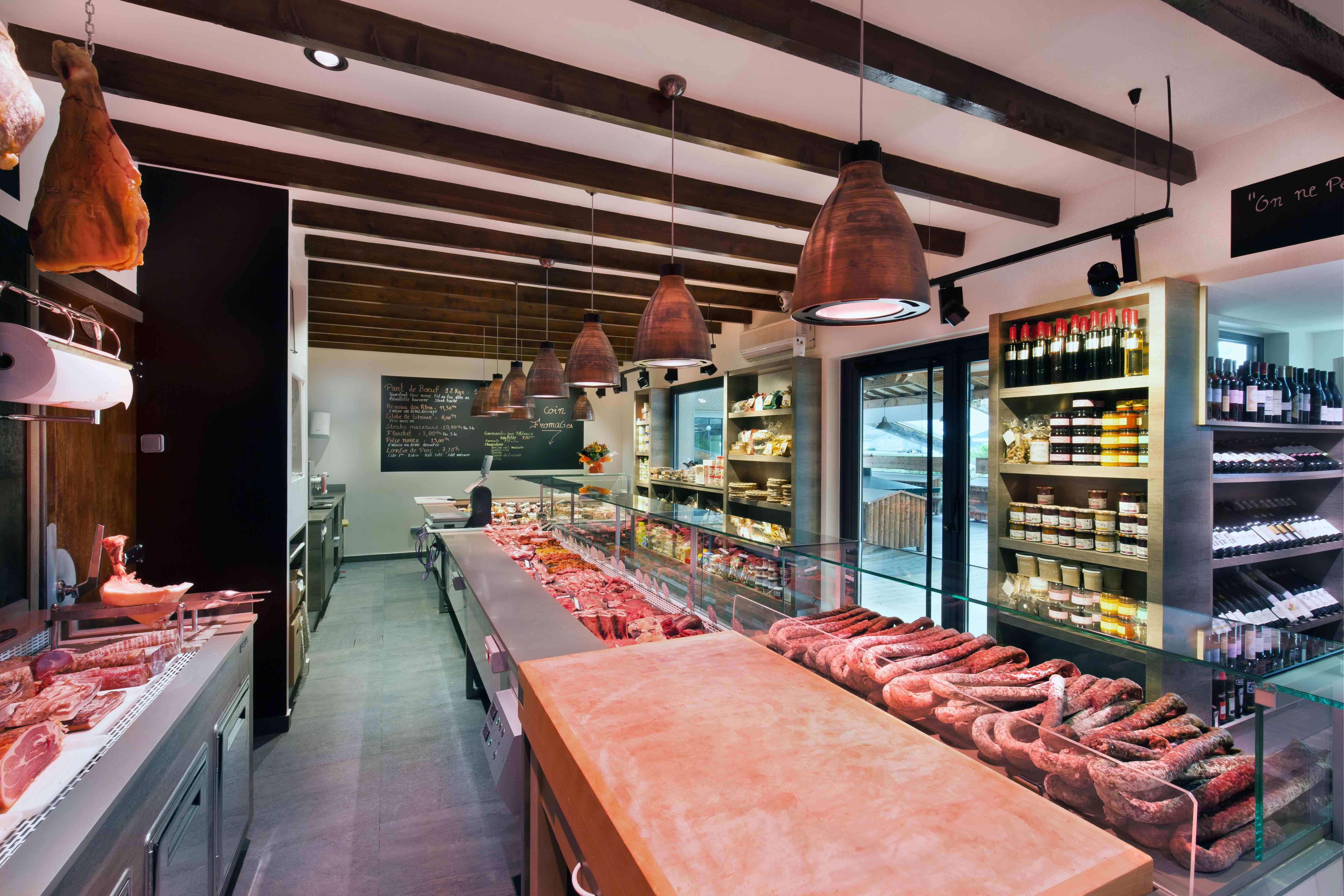 Charolais des Alpes 10 by nakide - agencement boucherie - design boucherie - design rétro