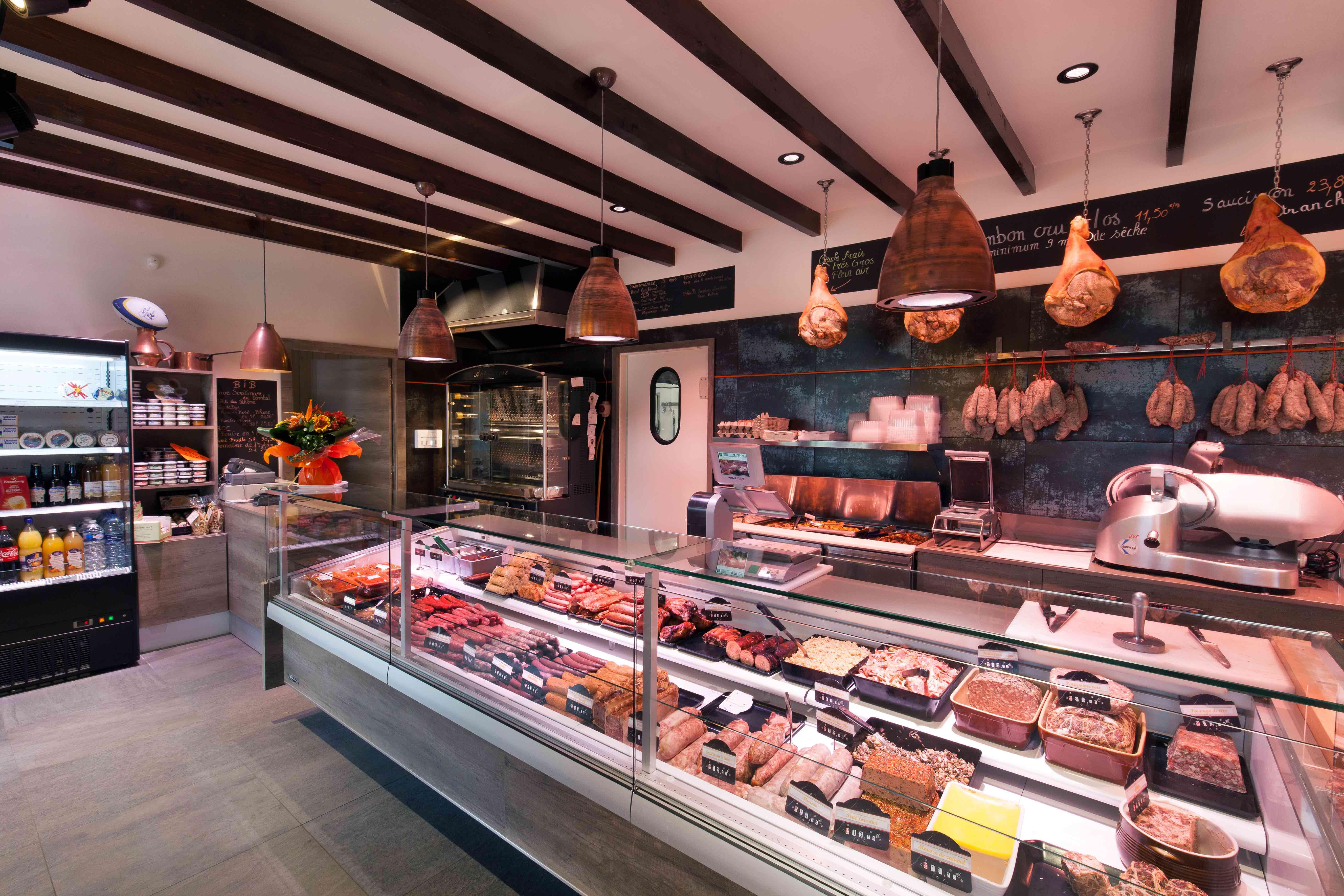 Charolais des Alpes 7 by nakide - agencement boucherie - design boucherie - décoration charcuterie