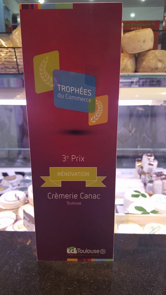 les Trophées du Commerce Crémerie Canac Toulouse by nakide agencement