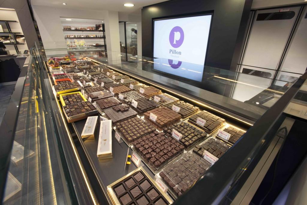 Maison Pillon by nakide chocolats de luxe - agencement chocolaterie - agencement chocolatier - décoration chocolaterie