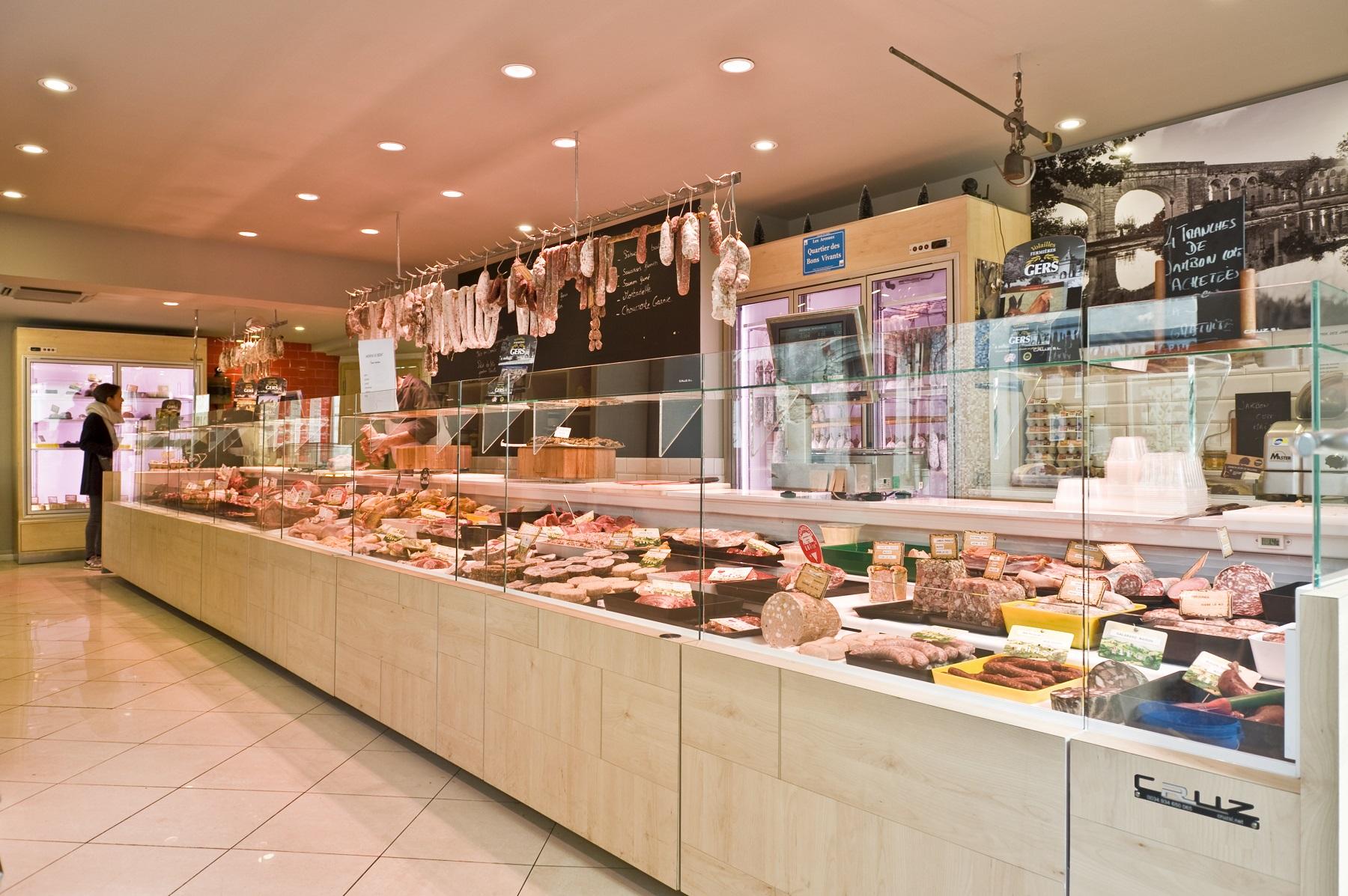 NAKIDE-Boucherie-Patrick Puel-agencement-vitrine-refrigeree-cruz-viande